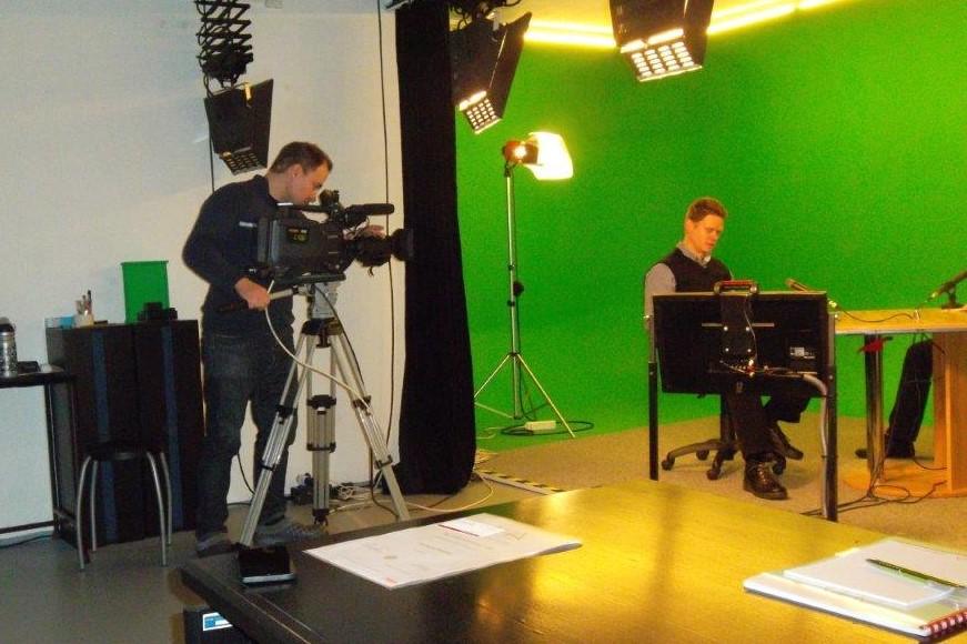 Trénink v TV studiu