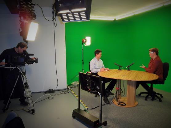 Individuální trénink v TV studiu