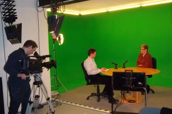 Mediální trénink v TV studiu